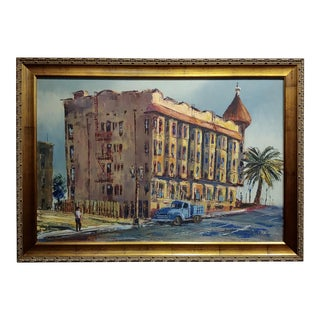 Ben Abril - the Minnewaska Hotel ,Bunker Hills, La -Oil Painting For Sale