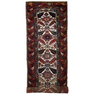 1840s Handmade Antique Collectible Nothwest Persian Runner 4' X 14.3' For Sale