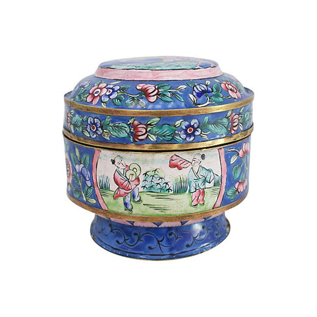19th C. Chinese Enameled Box For Sale - Image 10 of 10