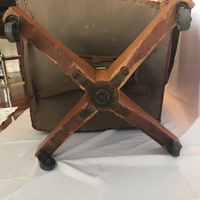 Vintage Mid Century B L Marble Company Illinois House of Representatives Leather Lawyer Judge Chair For Sale - Image 12 of 13