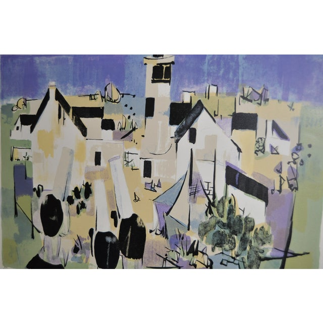 Mid-Century Modern Claude Schurr Color Lithograph C.1950 For Sale - Image 3 of 7