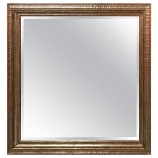 Contemporary Square Antiqued Frame Mirror For Sale