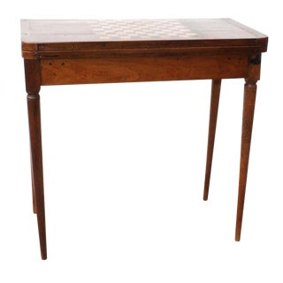 Antique French Fruitwood Inlaid Games Table For Sale