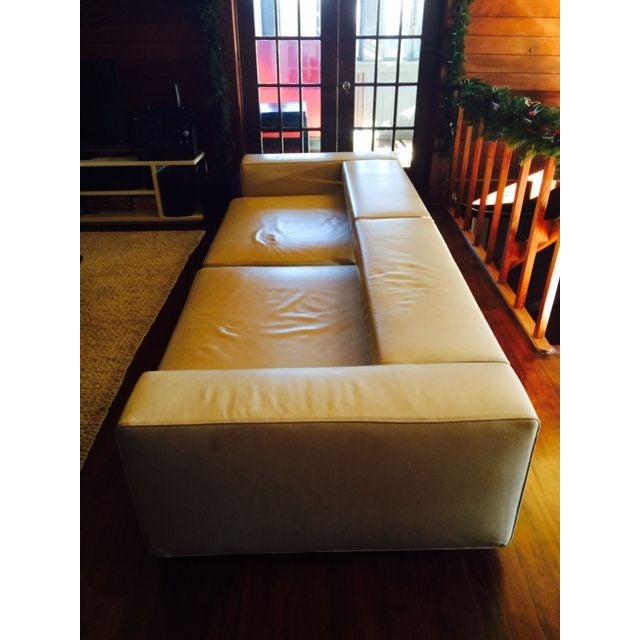 B&B Italia Andy Cream Leather Sofa - Image 3 of 4
