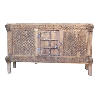 Rustic Carved Damachiya Dowry Chest For Sale