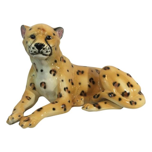 Ceramic Leopard Figurine - Image 1 of 6