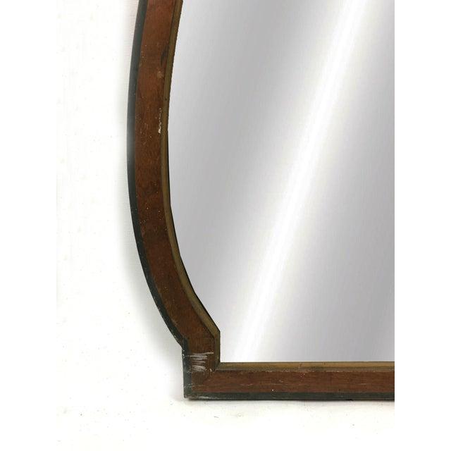 Art Deco 20th Century Art Deco Wooden Manor Mirror For Sale - Image 3 of 6