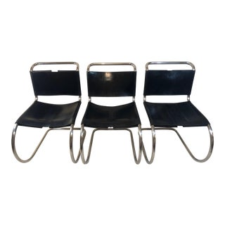 Vintage Mies Van Der Rohe for Knoll Mr Chairs- Set of 3 For Sale