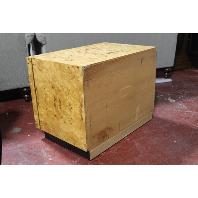 1970s Milo Baughman For Thayer Coggin Burl Wood Nightstand For Sale In Detroit - Image 6 of 8