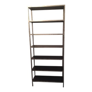 Made Goods Pewter-Leafed Wood Bookshelves - A Pair