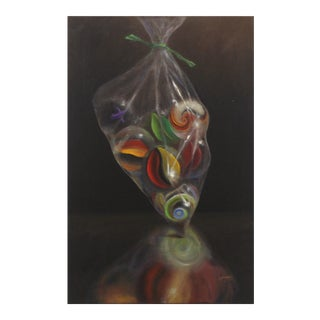 """Stuart Dunkel """"Bag of Marbles"""" Contemporary Painting For Sale"""