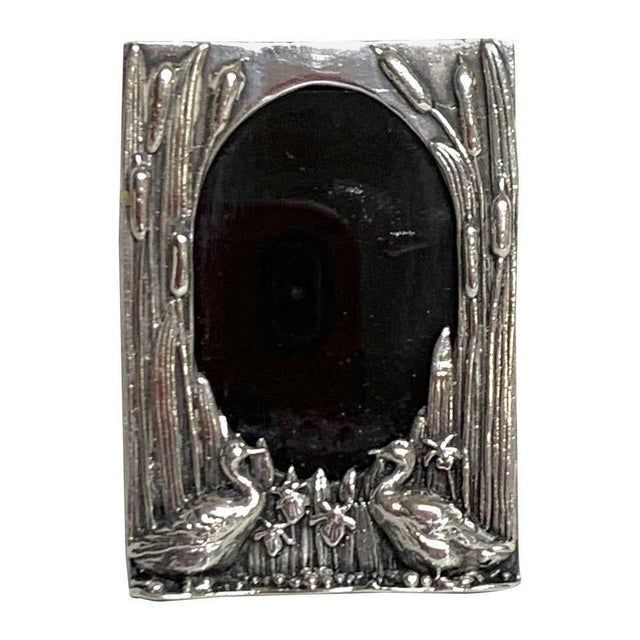 English Sterling Duck Motif Small Frame, Birmingham, 1985 For Sale - Image 12 of 12