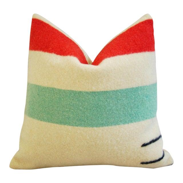 Multi-Striped Hudson's Bay Blanket Pillow - Image 1 of 6