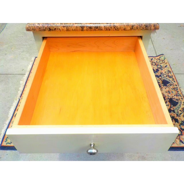 Food Preparation Work Table With Granite Top For Sale In New York - Image 6 of 13