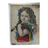 """Image of Antique Hand-Colored Currier & Ives Lithograph """"Little Daisy"""" Circa 1850 For Sale"""