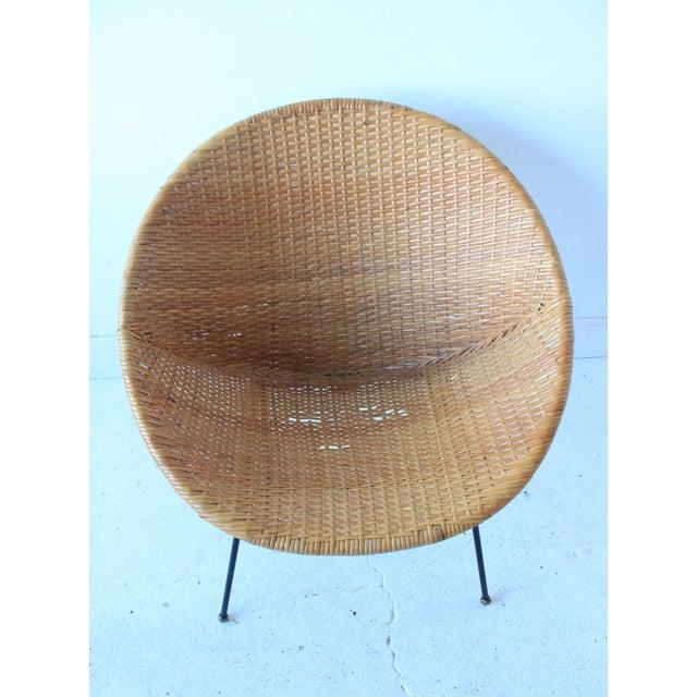 Vintage Mid Century Modern Rattan Amp Wicker Hoop Chair