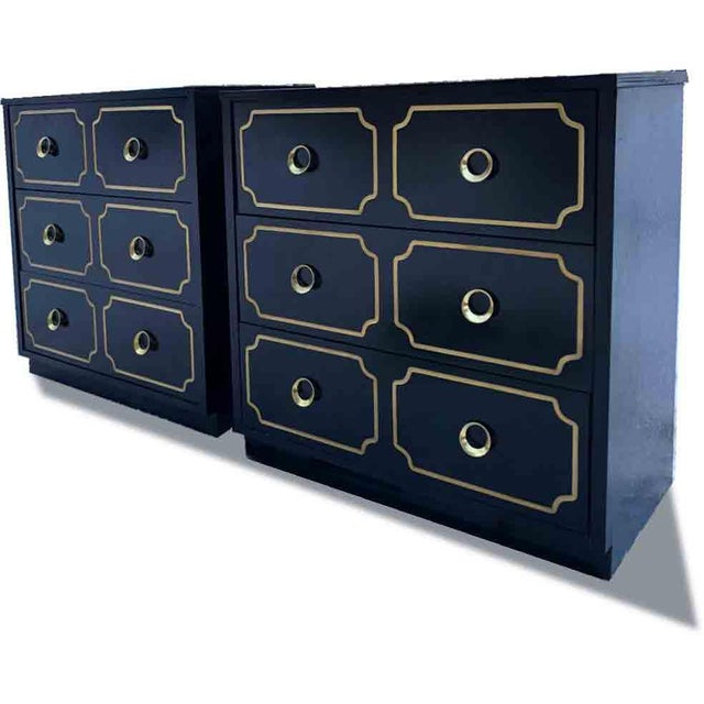 """Hollywood Regency 1970s Hollywood Regency Dorothy Draper Style """"Espana"""" Bunching Chests - a Pair For Sale - Image 3 of 11"""