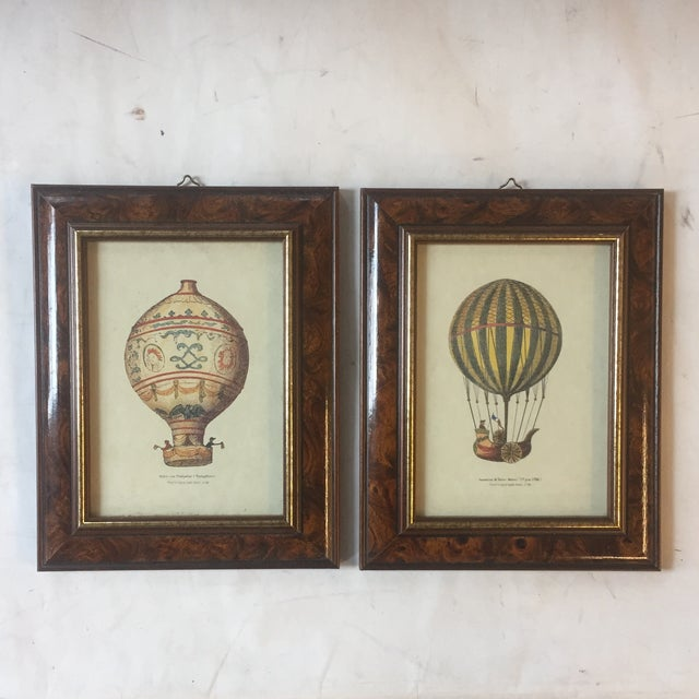 Paper Vintage Hot Air Balloon Prints - A Pair For Sale - Image 7 of 7