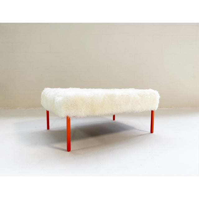 The Forsyth Ottoman in Sheepskin For Sale - Image 10 of 10