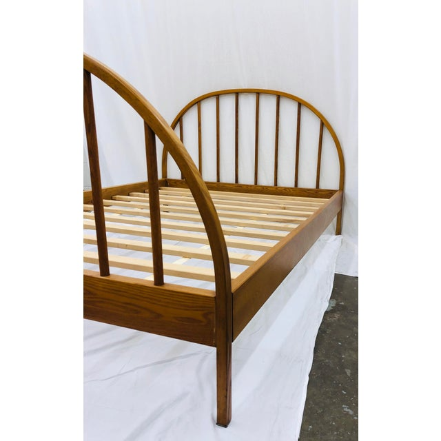 Vintage Mid Century Modern Danish Style Wooden Bed For Sale - Image 11 of 13