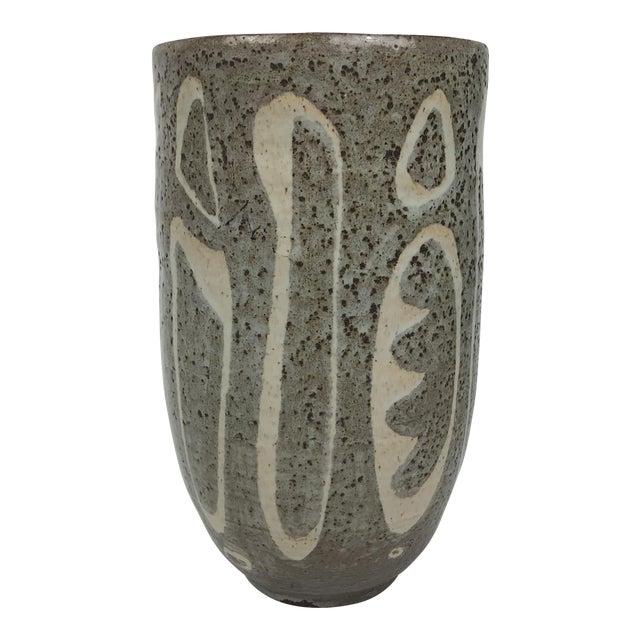 Mid-Century Modern Studio Pottery Vase For Sale
