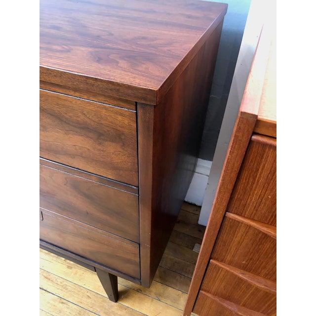 Mid Century Walnut Credenza Style Lowboy Dresser 1960's For Sale - Image 12 of 13