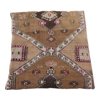 Vintage Turkish Floor Rug Pillow & Dog Bed 36'' x 36''