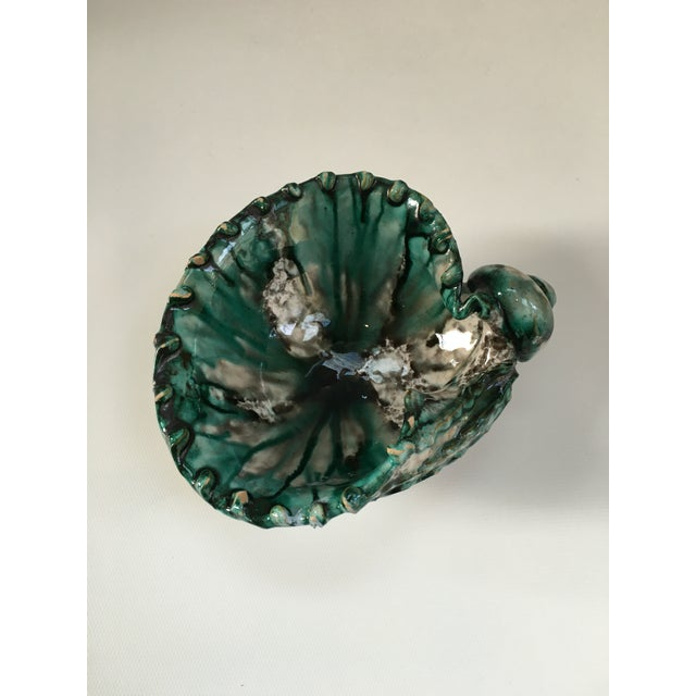 Italian Vintage Terra Cotta Seashell Catchall Bowl For Sale - Image 5 of 8