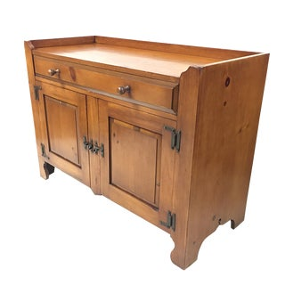 1960s Early-American Style Sideboard Cabinet by Drexel For Sale