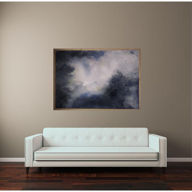 """Billowing Clouds"" Original Abstract Art by Kris Gould - Image 4 of 6"