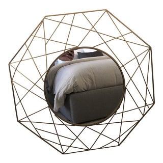 Cb2 Gicobi Geometric Round Wall Mirror For Sale