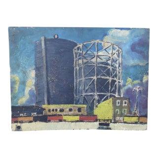 Meyer Greenberg Industrial Landscape C 1930 For Sale