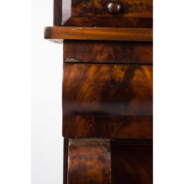 Metal Late 19th Century Antique American Empire Mahogany Vanity Dresser For Sale - Image 7 of 13