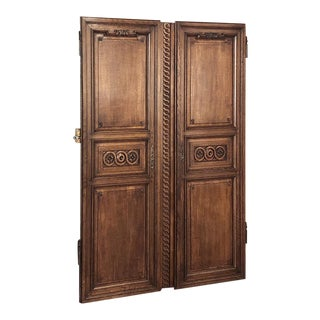 Pair 19th Century French Doors ~ Plaquards For Sale