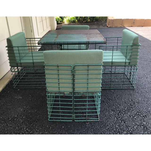 1940s Rare Josef Hoffmann Style Curvilinear Perforated Outdoor Dining Set - 5 Pieces For Sale - Image 5 of 12