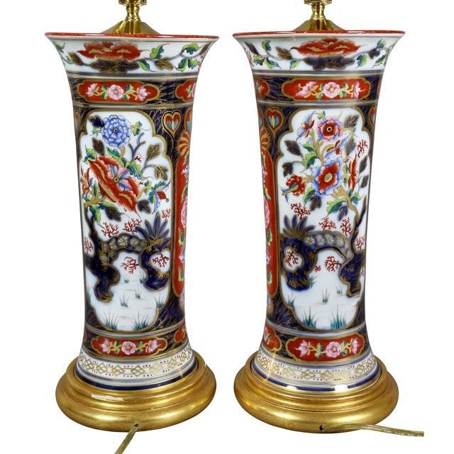 Pair of Victorian Imari Pattern Table Lamps For Sale - Image 10 of 11