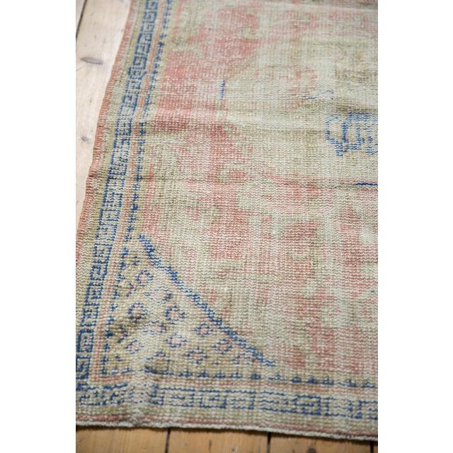 "Blue Vintage Distressed Oushak Square Rug - 2'10"" X 4' For Sale - Image 8 of 9"