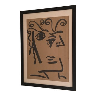 Peter Keil Cubist Face Abstract Profile Painting For Sale