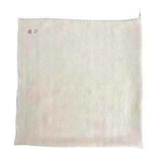Vintage French Linen Dishtowel 'Md' For Sale