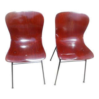 1960s Vintage Pagholz Bent Wood Dining / Side Chairs - a Pair For Sale