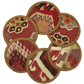Kilim Coasters Set of 6 | Kalpakçılar For Sale