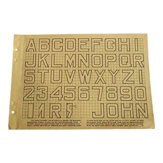 1930 Art Deco Block Letters Character Culture Citizenship Guides Print For Sale