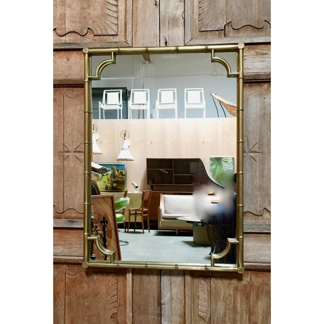 Italian Faux Bamboo Framed Mirror For Sale - Image 11 of 11