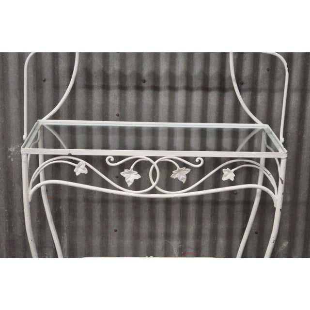 Vintage Salterini Mt Vernon Pattern Stand Bakers Rack Wrought Iron French Country For Sale - Image 5 of 11