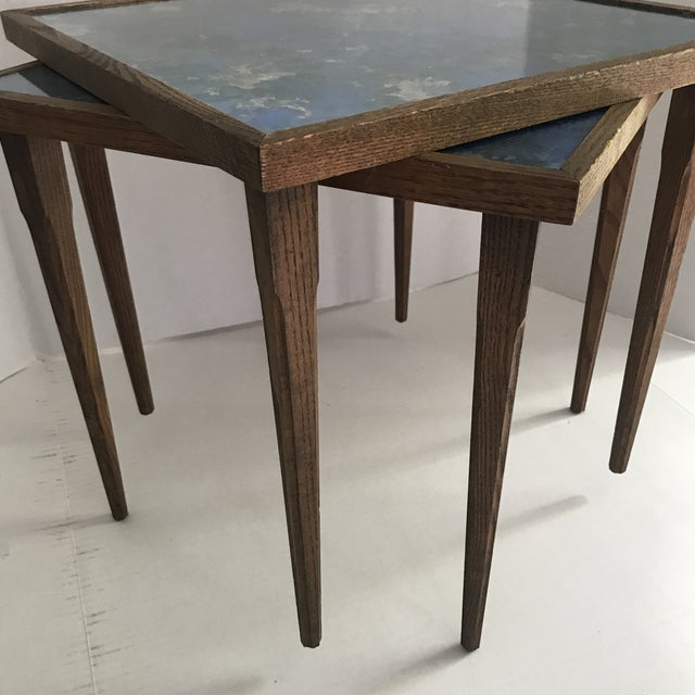 Mid-Century Modern Mid-Century Stacking Tables With Glass Tops - A Pair For Sale - Image 3 of 13