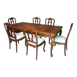 1940s Art Nouveau Dining Room Set - 7 Pieces For Sale