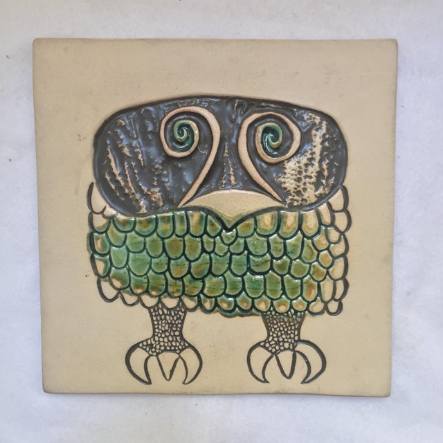 David Gil Bennington Pottery Mid-Century Wall Plaque or Trivet For Sale - Image 5 of 5