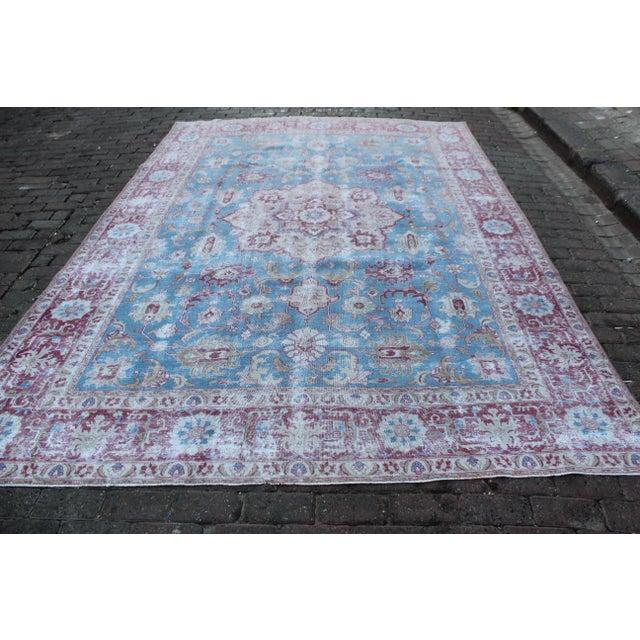 Vintage Tabriz Wool Rug - 7′ × 10′1″ For Sale - Image 4 of 9