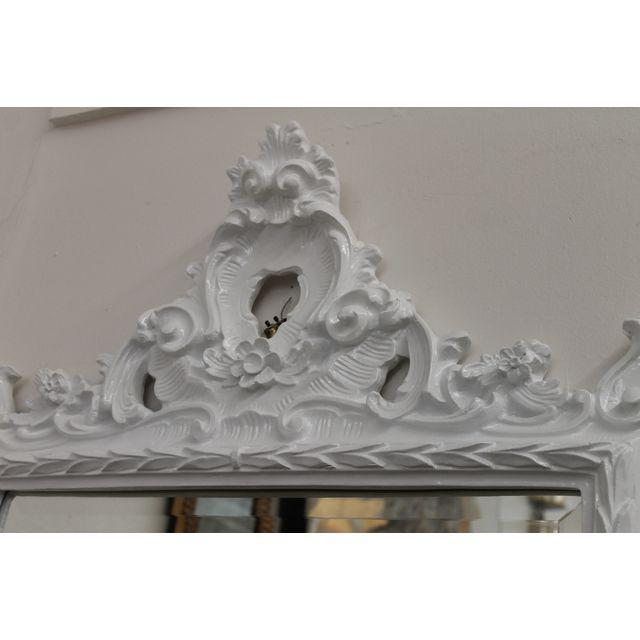 Chippendale White Baroque Mirror For Sale - Image 3 of 5