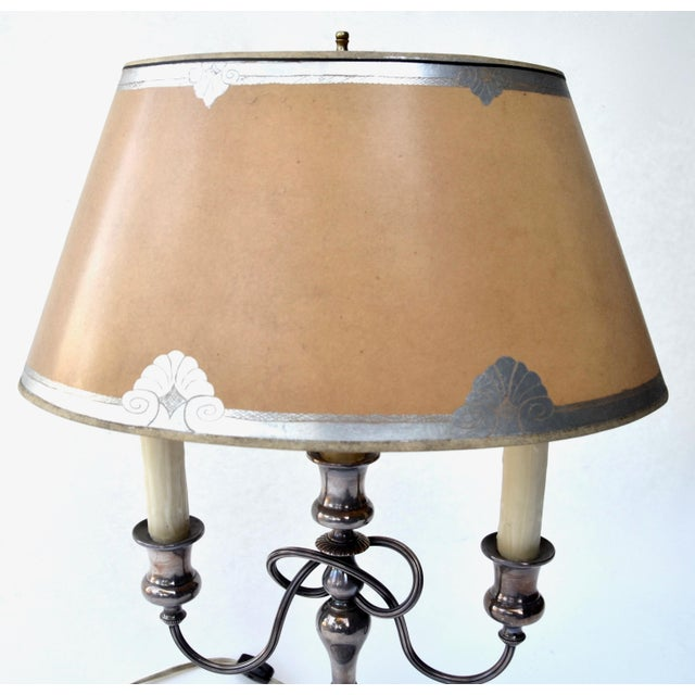 The School of Paris 19th Century Silver Bouillotte Lamp From France, Signed E.Kennedy For Sale - Image 3 of 11